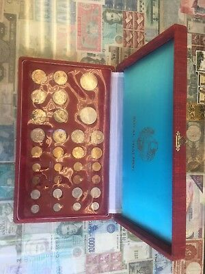 Thailand 1966 Royal Thai Mint Commemorative Coin Set of 32 Coins w/ORIG. BOX