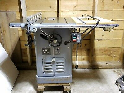 "Delta Rockwell 10"" Unisaw Table Saw 1.5 Hp 115/230V Model 34-761S"