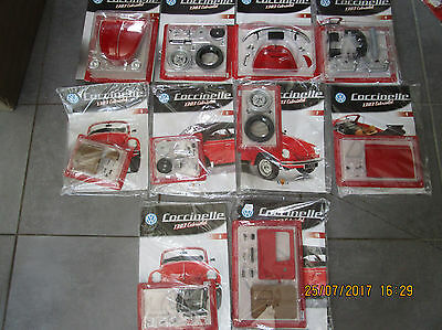 Coccinelle/ BEATLE 1303 Cabriolet 1/8 KIT COMPLET ALTAYA 100 n°s neuf+fascicule