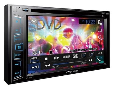 "Pioneer Double 2 Din AVH-290BT DVD/MP3/CD Player 6.2"" Touchscreen Bluetooth NEW."