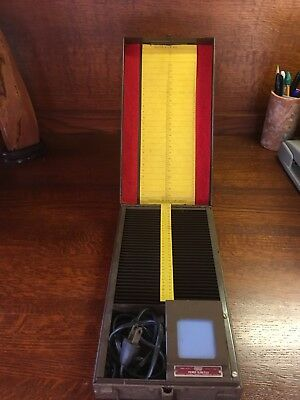 FODECO Metal Lighted Viewer Slide File Model 155 With Carrying Handle