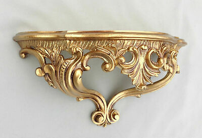 Wall Console Shelf Gold Baroque Reproduction 38x20x15, 5 cm Mirror 811 N