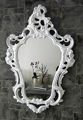 Exclusive Wall Mirror Antique Baroque Reproduction White 50X76 Deco WOW 1