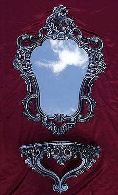 Wall Mirror + Console AS 2ér Set Antique Baroque Repro 50X76 Wall Deco S.W