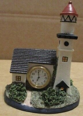 Lighthouse Sea Shore Polystone Clock Office Garage or Den