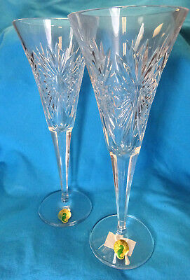 """Waterford Crystal The Millennium Collection """"Happiness"""" Champagne Flute (Pair)"""