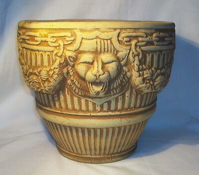 Vintage 1929 Brush Pottery Large Roman Jardiniere