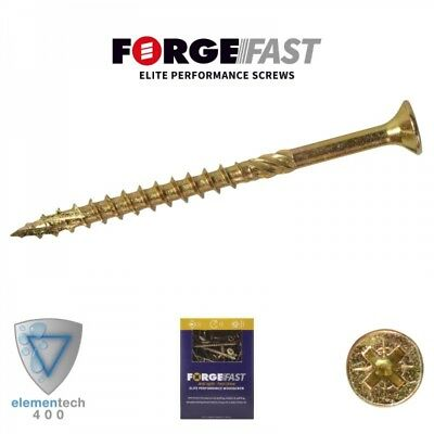 ForgeFix ForgeFast Elite Anti Split Wood Screws Yellow Boxed Pozi PZ 12-240mm