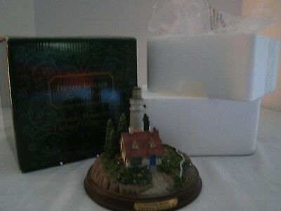 "Thomas Kinkade ""Clearing Storms"" Lighthouse--Seaside Memories Lighted--With Box"
