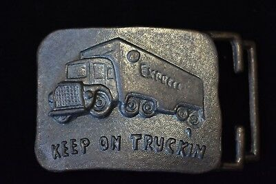 Vintage Keep on Truckin Express Truck Belt Buckle