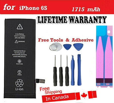 NEW Replacement iPhone 6S Battery 1715 mAh With Free Tools & Heat Proof Adhesive
