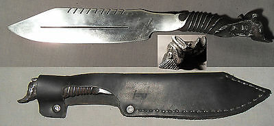 Steam Engine! Hand-Forged Knife Antique Railroad Spike Blade Saw Old Train Gift