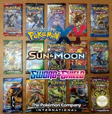 BRAND NEW Pokemon Card BOOSTER Packs XY Sets / Evolution / S&M / BS / CI TCG