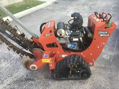 Ditch witch trencher C24x with  honda 26 hp 6 foot boom.  2016 unit only 96hr