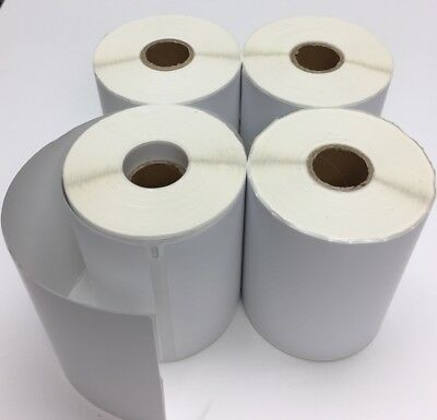 """4x Dymo Compatible 1744907 Thermal Labels 4""""X6"""" Adress Labels 1"""" Core 220 ct"""