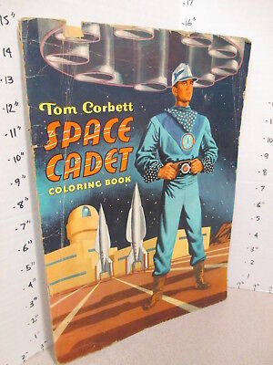 TOM CORBETT space cadet 1952 TV show rocket ship comic coloring book unused 32pg