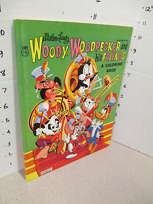 WOODY WOODPECKER & FRIENDS 1963 coloring book unused Andy Panda Space Mouse 80p