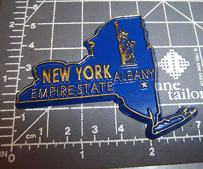 New York state shaped rubber fridge style magnet, great collectors item