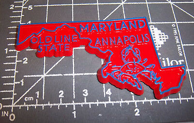 Maryland state shaped rubber fridge style magnet, great collectors item