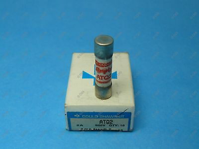 Shawmut ATQ2 Time Delay Fuse Midget 2 Amps 500 VAC Box Of Qty 10 New
