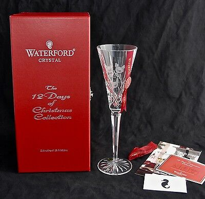 Boxed 3rd Edition WATERFORD CRYSTAL 12 Days of Christmas Flute - 3 French Hens