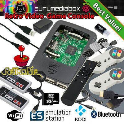 1 RASPBERRY PI 3+ Video Game System-Kodi-Retropie-35 Systems