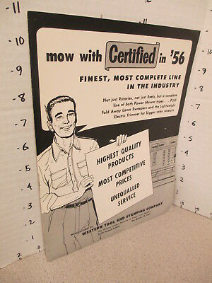Certified Power LAWN MOWER 1956 catalog,sales material Western Tool & Stamping