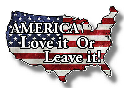 American Flag, America Love it or Leave it, Sticker Decal, USA, Truck car Window