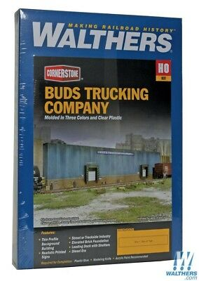 Walthers 933-3192 Bud's Trucking Company Background Building kit HO scale NEW