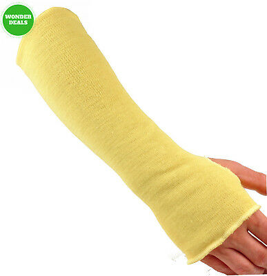 G & F 58123-6 100% Kevlar 18-Inch Cut Resistant Knit Sleeve with Thumb Hole,...