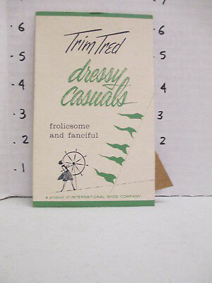 TRIM TRED SHOES 1960s store display sign women clothing ship wheel DRESSY CASUAL