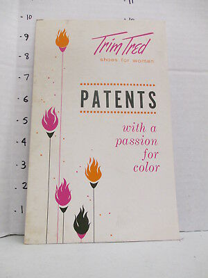 TRIM TRED SHOES 1960s store display sign women's clothing Eames PATENTS