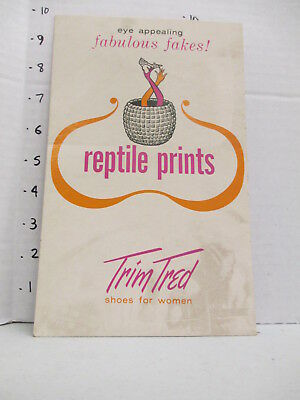 TRIM TRED SHOES 1960s store sign women's clothing Eames snake charmer reptile
