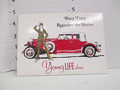 YOUNG LIFE SHOES 1960s store display sign women clothing psychedelic mod RACY