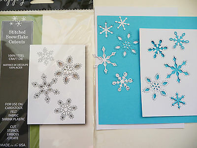 Thin Metal Cutting Die Poppystamps Stitched Snowflake Cutouts 1305 Sizzix