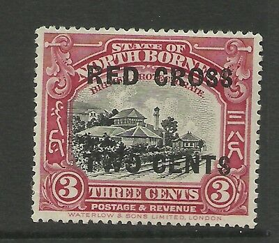 North Borneo - First Red X o/p - SG216 - NG - Cat £19
