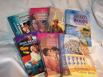 Lot of 7- SILHOUETTE ROMANCE NOVELS- On Mothers Day, Patricks Destiny, (#132)