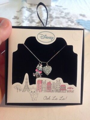 Girls Kids Disney Aristocats Marie Jewellery Necklace Gift Set **New**