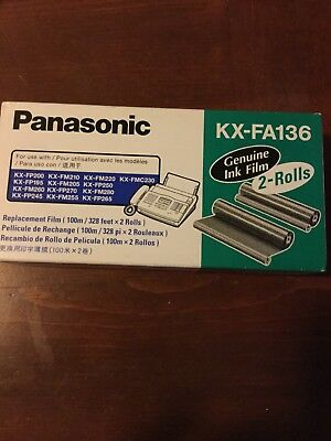Brand New Panasonic KX-FA135 2 Rolls Genuine Ink Film Fax Machine