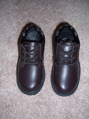 Boys Brown Leather Lace-Up Shoes - Size 8.5M - Stride Rite - New with Box