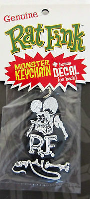 Rat Fink Key Chain With Decal Black/White
