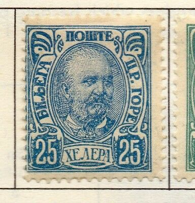 Montenegro 1902-07 Early Issue Fine Mint Hinged 25h. 182186