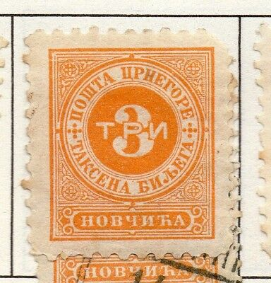 Montenegro 1894 P. Due Early Issue Fine Mint Hinged 3n. 182250