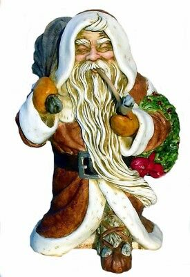 Harmony Kingdom Artist Neil Eyre Designs Father Christmas Santa pipe LE16 brown