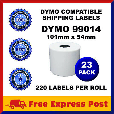 23 Rolls SD99014 Compatible Dymo Label 99014 White Shipping Labels 54mm x 101mm