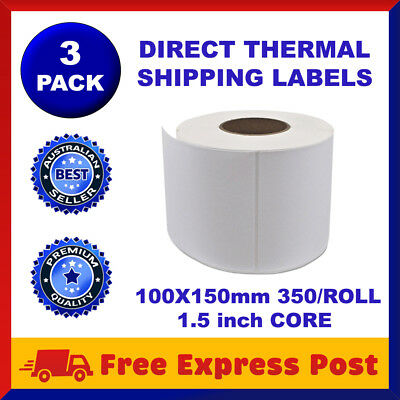 4 Rolls Direct Thermal Labels 100 X 150mm Fastway EParcel Startrack Zebra SATO