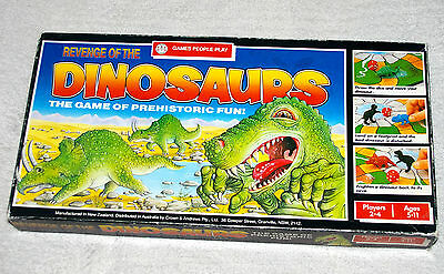 Vintage Revenge Of The Dinosaurs Board Game, by Waddington's , 1988