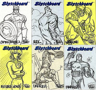 1998 Marvel Creators Collection MCC98 SKETCHBOARD SET (23) - MIXED COLORS