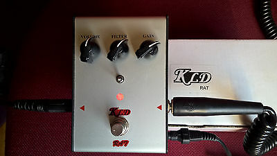 "KLD Distortion / Boutique vintage ""Rat"" style reissue pedal + ORIGINAL BOX"