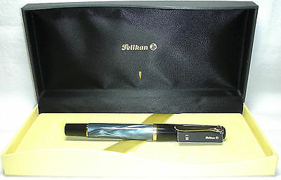 Pelikan Souveran R200 Roller Ball Pen Blue Marble and Black New in Box Product
